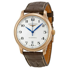Longines Master Collection Silver Dial Brown Leather Mens Watch L26288783