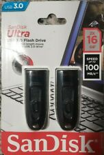 2 SanDisk Ultra USB 3.0 Flash Drive 16 GB
