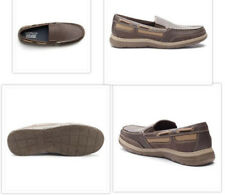 NIB Mens Ortholite Croft & Barrow Boat Shoes Slip On 12M Brown Retail $74.99