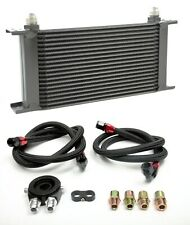 Universal 19 Row Aluminium Oil Cooler Kit Oil Filter Relocation Adapter Kit An10