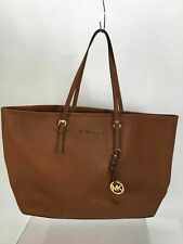 Michael Kors Brown Textured Leather Tote Bag
