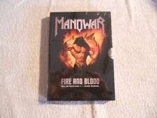 """Manowar 'Fire And Blood """" 2002 2 DVD Box Set New Sealed $"""