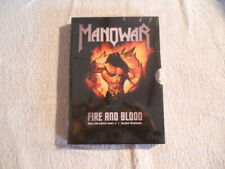 """Manowar """"Fire and Blood"""" 2002  2 DVD Box Set  New Sealed $"""