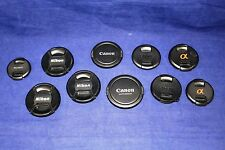 Lot of 10 Mix of Genuine Front Lens Caps