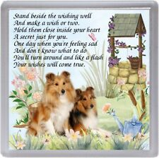 "Shetland Sheepdog / Sheltie Dog Coaster ""WISHING WELL"" Poem ...."" by Starprint"