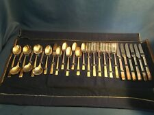 VINTAGE WM A ROGERS ONEIDA LTD AA HEAVY SILVERPLATED FLATWARE SET 26 PCS IN CASE