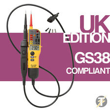 Fluke T150 Audible Voltage and Continuity Electrical LCD and LED Two Pole Tester