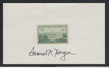 Samuel R. Berger, Nat. Security Advisor signed 3c Capital Sesquicentennial stamp