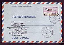 2186++CONCORDE AEROGRAMME10° ANNIVERSAIRE PARIS-CARACAS