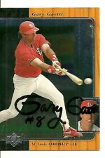 GARY GAETTI ST. LOUIS CARDINALS SIGNED AUTO 1996 UPPER DECK SP CARD #154 W/COA