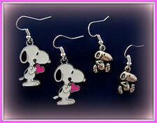 Two Pair of Earrings! Peanut's Snoopy Earrings + Charlie Brown's Beagle Dog