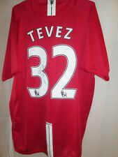 Manchester United 2007-2008 Home Tevez Signed Football Shirt with COA  /15895