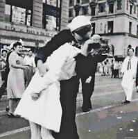 Famous Sailor Kiss Photo DIGITAL Counted Cross Stitch Pattern Needlepoint Chart
