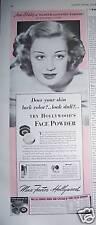 1941 Max Factor Hollywood Maquillaje Anne Shirley Anuncio