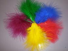 10 plumes marabou milticolor 7 cm