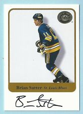 BRIAN SUTTER 2001 FLEER GREATS OF THE GAME SIGNATURE AUTOGRAPH AUTO