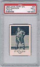 1952 Laval Dairy QHL Update Hockey Card Chicoutimi Pete Tkachuck Graded PSA 7.5