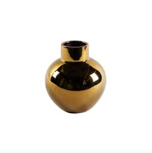NEW Adler Gold Ceramic Vase   Small