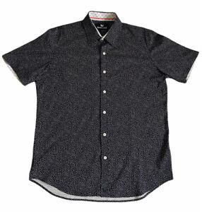 Butter Cloth Men's Large Button Up Short Sleeve Shirt Cotton