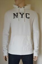 NUOVO ABERCROMBIE & FITCH NYC Graphic Felpa con cappuccio bianco con cappuccio Felpa con cappuccio XXL