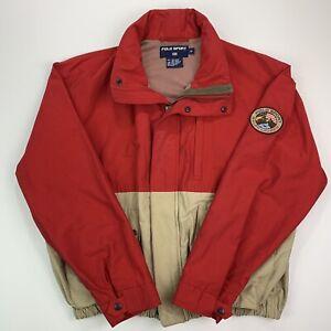 Men's Vintage Polo Sport (M) Mountain Patch Cookie Logo Cotton/Nylon Jacket