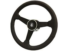 1974 - 1979 Suede Steering Kit w/ Volkswagon Hub, Castle Emblem & Deluxe Button