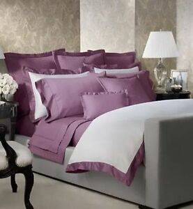 NIP Ralph Lauren Langdon Duchess Lavender White Full/Queen Duvet Cover Set 6pc