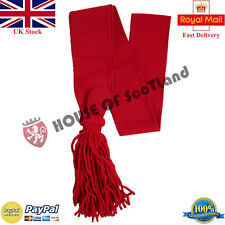 """New British Army Shoulder Sash Red Guards Sergeants Wool Sashes 30"""" 32"""",34"""",36"""""""