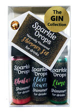 Gin Sparkle Drops shimmer gift set, 30ml, for Gin, cocktails, Prosecco, drinks