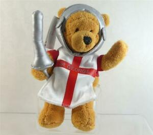 Disney Store 2003 St George Winnie The Pooh With Lance Mini Bean Bag England