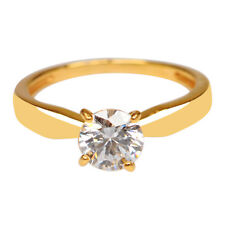 Gold 1.50 Carat Solitaire Engagement Ring Amazing Round Shape 14Kt Solid Yellow