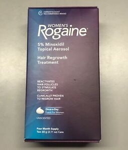 Women's Rogaine Foam Hair Regrowth Treatment 4 Month Supply Exp 2022