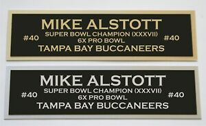 Mike Alstott nameplate for signed autographed jersey football helmet or photo