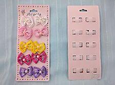 2 pack Baby Bow Design Hair Velcro Clip JH-0019