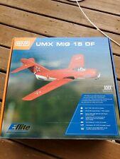 Eflite UMX MIG 15 DF Glider BNF RC remote Control airplane Horizon NEW NICE
