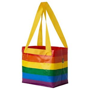 "STORSTOMMA Small Carry Bag Rainbow Multicolor Pride 10 5/8x10 5/8 "" NEW"