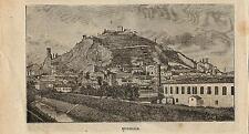 Stampa antica MONSELICE veduta panoramica Padova Veneto 1898 Old antique print