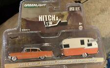 Greenlight Hitch & Tow 1955 Cadillac Fleetwood & Shasta 15' Airflyte 1:64 32090A