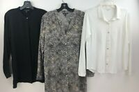 Eileen Fisher Silk Blouse Top Button Up Front Tunic Lot of 3 Womens Small A58-01