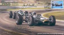 1966c BRABHAM-REPCO & COOPER-CLIMAX T81 NURBURGRING F1 cover signed JACK BRABHAM