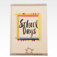 RHICREATIVE Kids School Days Record Book Journal Keepsake Photo Album Scrapbook