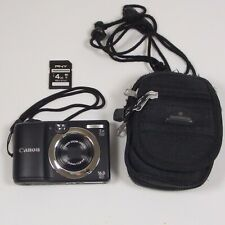 Canon PowerShot A1400 16.0 MP Digital Camera HD Black With Card And Case