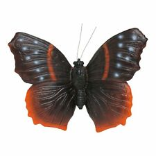 Black Butterfly Garden Ornament Wall Mountable Insect Statue Outdoor Feature