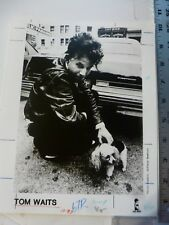 Vintage Glossy Press Photo Tom Waits Island Records 1987