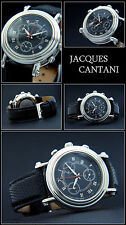 Othelo CHRONOGRAPHE MONTRE HOMME chiffre perforé JACQUES CANTANI Swiss G