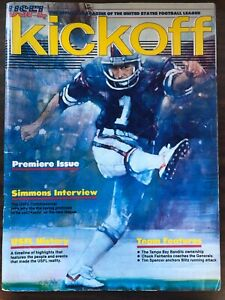 USFL KICKOFF PREMIERE ISSUE SIMMONS INTERVIEW USFL HISTORY TEAM FEATURES 1983