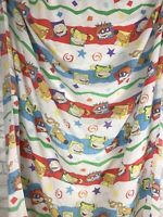 Vintage Rugrats Twin Fitted Sheet Tommy Angelica Chuckie Nickelodeon 1997 Fabric