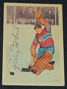 "1953-1954 - PARKHURST GERARD ""GERRY"" MCNEIL MONTREAL CANADIENS - HOCKEY CARD #25"