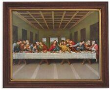 "Last Supper, Da Vinci, Framed Print 10 X 12.5"", Plus Two FREE Prayer Cards"
