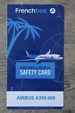 Safety card FRENCH BEE Airbus A350-900